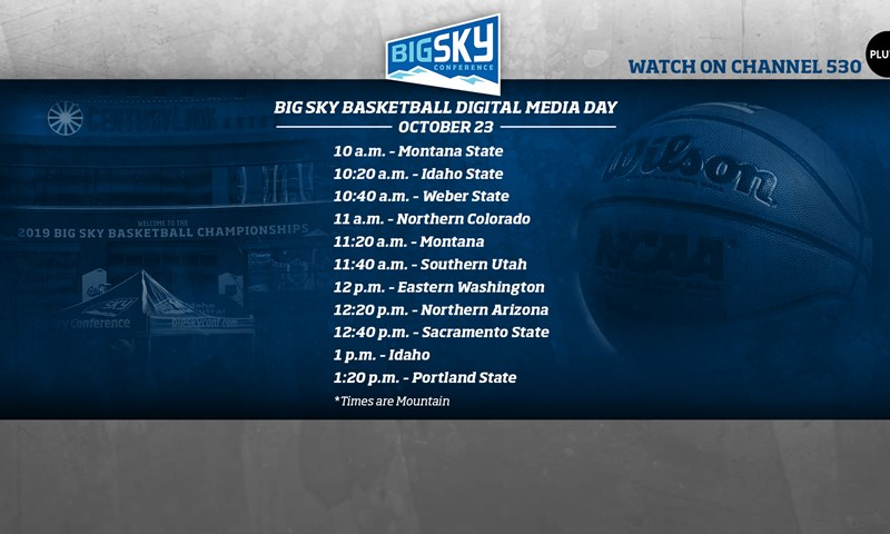 Big Sky Basketball Digital Media Day To Air October 23 On Pluto TV